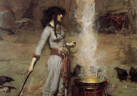Magic Circle. John William Waterhouse, 1886. Fuente: Wikipedia